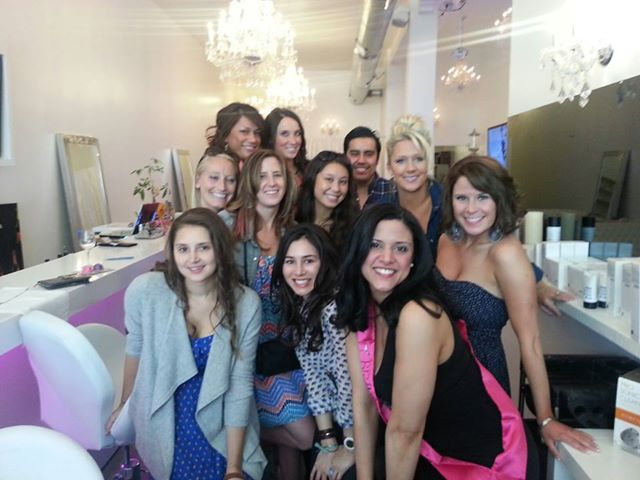Denver Bachelorette party Kicking off at Fluff Bar - Cocktail Bar, Blowout Bar, Make-Up Studio