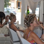fluff bridal 150x150 Bride Artistry Beauty Team Artist Doing Hair and Makeup for Bridal Photoshoot