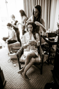 The Making of Wedding Hairstyles.  Bride Artistry.