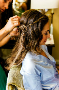 brie7 199x300 Bride Artistry Beauty Team Artist Doing Hair and Makeup for Bridal Photoshoot